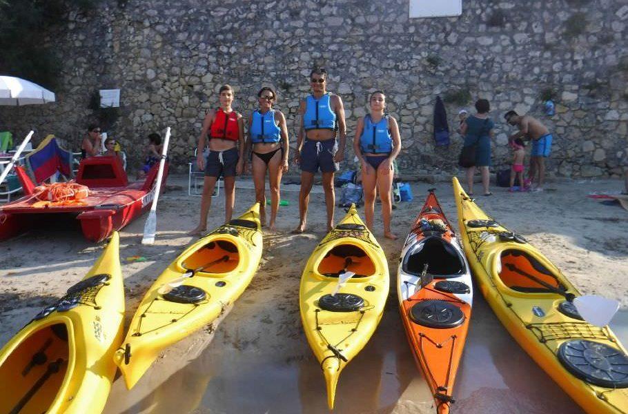 kayak a Porto Selvaggio