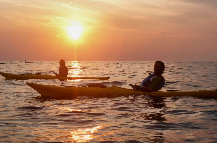 in kayak a Porto Selvaggio