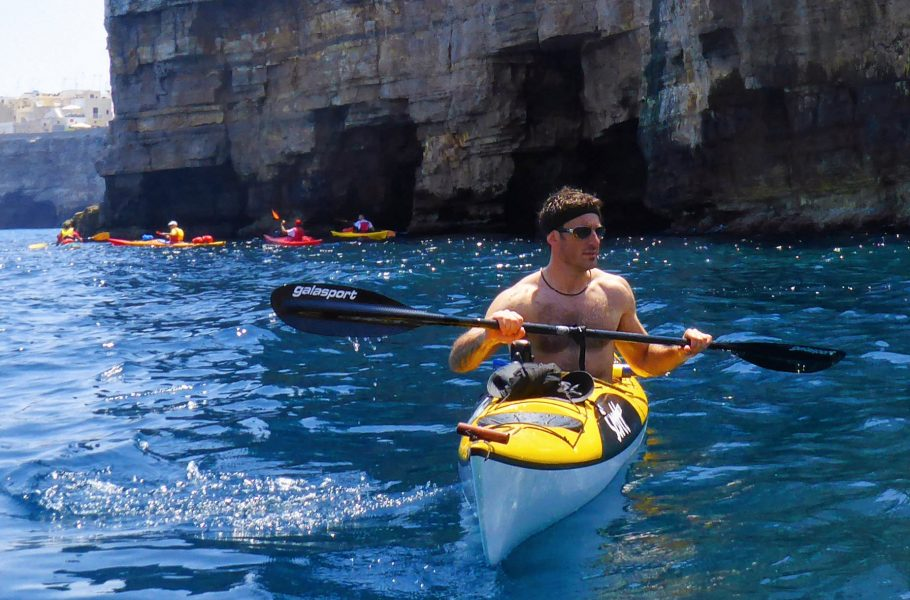 kayakers at Polignano