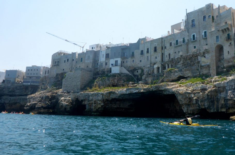 Polignano view from kayak