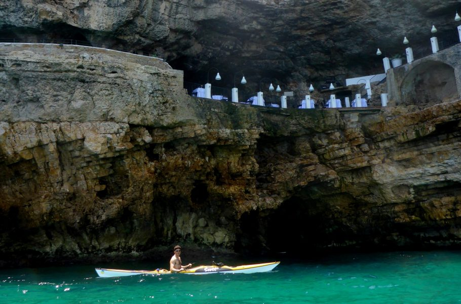 kayaking in Palazzese cave