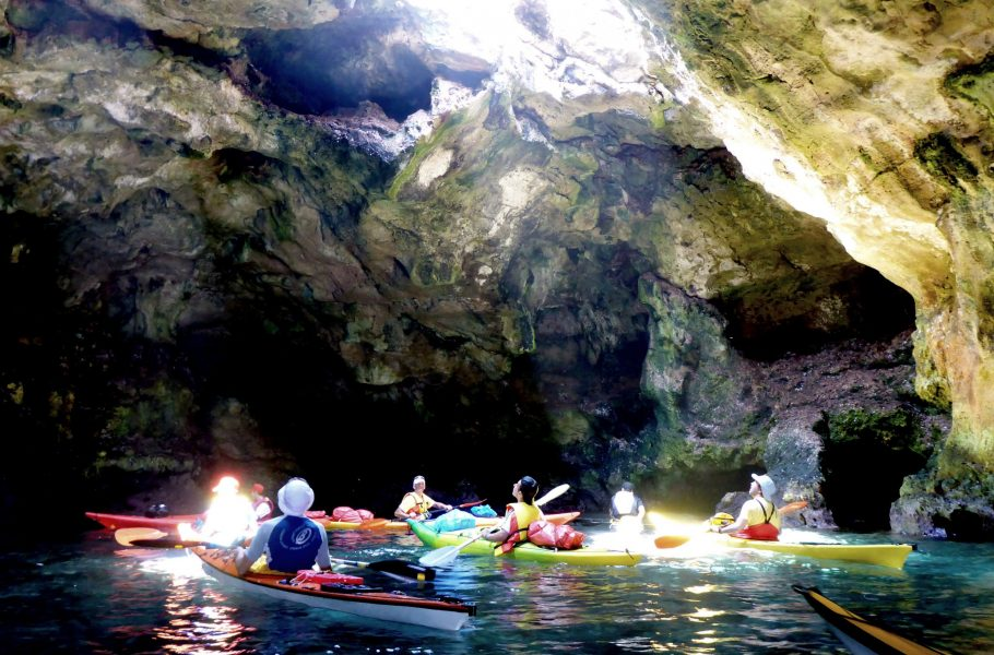 kayaking in Polignano's cave