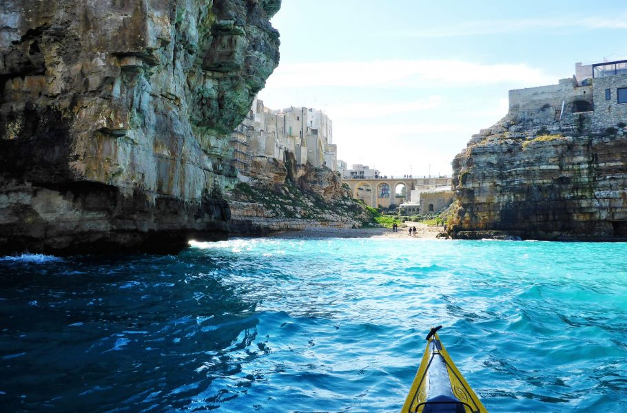 Polignano's coast by kayak