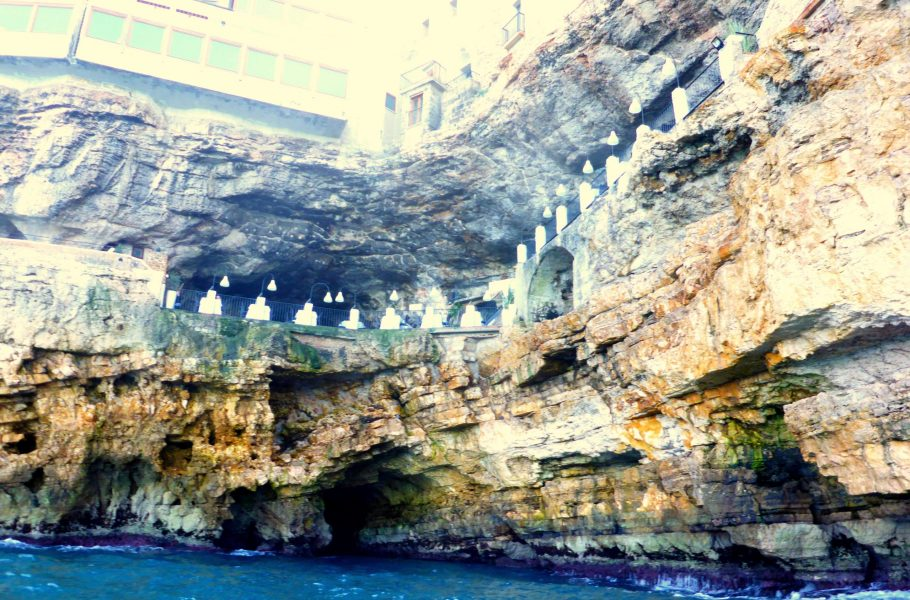 Polignano - Grotta Palazzese seen from a kayak