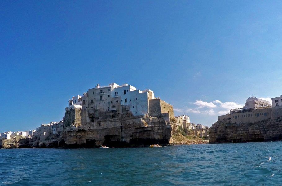 kayaking along Polignano's coast