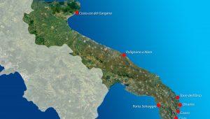 mappa luoghi kayak puglia - Puglia and Salento by kayak!